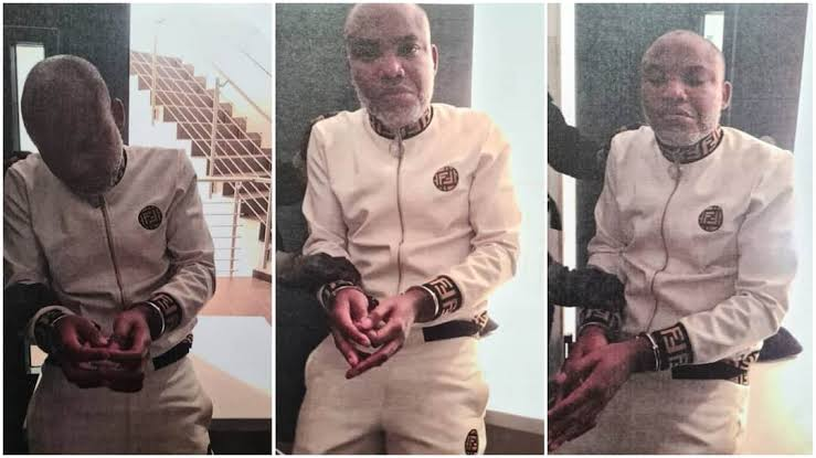 Nnamdi Kanu when he was extradited to Nigeria.